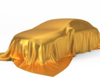 car with a gold cover on top